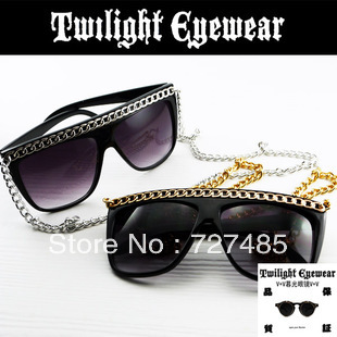 Freeshipping  2013LADYGAGA metal chain avant-garde sunglasses party night club drag party decoration glasses sunglasses