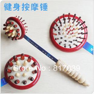 Free shipping Home portable massage device health care massage stick meridiarns brush massage hammer  fitness hammer