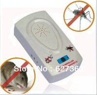 2pcs/LOT FREE SHIPPING ultrasonic electric pest repeller reject mosquito killer rat mouse bug insect repeller pest scare