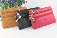 Solid color zipper girls small coin purse clutch 9.9