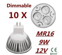 10pcs Rotundity cree Dimmable High Quality 9W M16 12v LED Light Bulb LED Lamp Spotlight Downlight LED Lighting