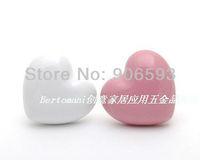 100pcs lot free shipping Porcelain love heart cartoon cabinet knob\porcelain handle\porcelain knob