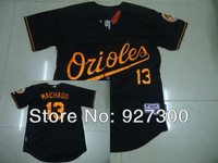MLB Jerseys Baltimore Orioles Authentic Manny Machado #13 Black Cool Base Baseball Jerseys Free Shipping