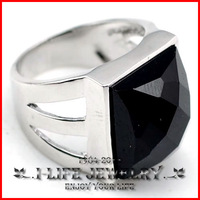 Freeshipping! 925 Sterling Silver National Style Mens Onyx Gems Vintage Antique Engagement Rings