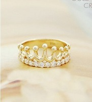 46#Min.order is $10 (mix order).South Korea jewelry, fashion crown ring.+ Free Shipping