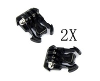2x Black Buckle Basic Strap Mount For Gopro Hero 1 / 2 / 3 Camcorder