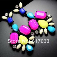 wholesale neon colorful zircon fashion earrings girls  stylish earrings 12pair / lot FREE SHIPPING