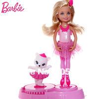 Original Brand Barbie Doll Pink Shoes Small Kylie Dance Moves X8816 Fashion Design Plates Children Toys Free Shipping
