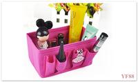 Cosmetics desktop storage box storage box cosmetic bag rose