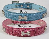 Free Shipping Pet supplies accessories dog collar bone crocodile skin collar
