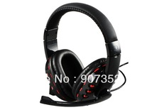 Wired Headphone with Microphone for Sony Playstation 3 & PC,free shipping
