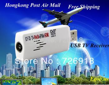 Hot Selling!!! Mini Digital USB DVBT TV FM DAB Tuner DVB-T Receiver DVB T Dongle RTL2382U R820T Chipset Support SDR