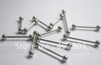 100 pcs 316L stainless Barbell Piercing Jewelry Good Quality Free Shipping