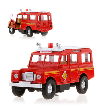 Huapeng public security police ambulance acoustooptical WARRIOR alloy car models car model toy