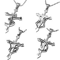 2014 Vingate Jewelry Necklace Pendant Titanium Steel 12 Zodiac Signs Constellations Pendants CZ Diamond Inlaid For Men & Women