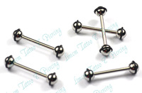 Free Shipping 10pcs/LOT 316L surgical steel eyebrow ring stud barbell button ring with rubber ring on the ball