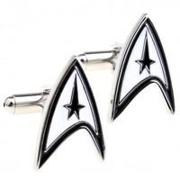 Star Trek Cufflink 2 Pairs Free Shipping Promotion