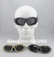 3 pcs tactical goggles shooting nets glasses eye protect black/green/Khaki