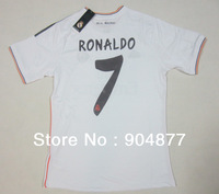 ^_^ 13/14 seasons ronaldo real madrid thailand 3A+++ quality soccer jerseys customized name  ,have patch