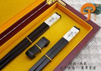 China Lily silver chopsticks quality ebony wooden gift chopsticksEbony silver lily chopsticks quality wooden box gift chopsticks