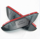 2013 new Free shipping Skoda Octavia/Fabia/Superb 3D Car Rain Eyebrow Rearview mirror rain gear,auto accessories(China (Mainland))