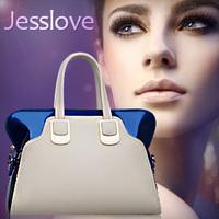 Freeshipping Popular classic jesslove2013 japanned color block women's summer handbag fashion handbag one shoulder bag