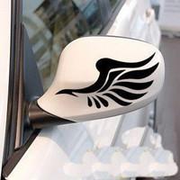Modern sonata KIA k2k5 rearview mirror refires mei wings stickers
