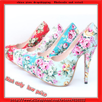 2013 new arrival Free shipping red bottom high heels girls flowers party platform pumps sexy wedding size 32-43 women shoes