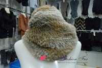 high quality 2013 Brand New Rabbit fur Knitted Scarf 100% Natural Rabbit fur Hand Woven Ring Scarves In stock