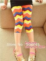free shipping Wholesale baby leggings girls chevron pants baby leggings kids render pants 5pcs/lot