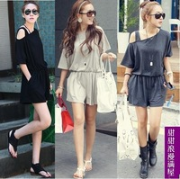 2013 summer women's r0513 strapless one-piece shorts jumpsuit