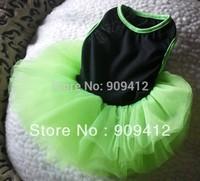 2013 Popular Fluorescent Green Dog Dress Pet Summer Clothing Dog Wear 12 Layers of Gauze