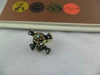 wholesale crystal cheap skull ring retro skull rings assorted colors 50 PCS/LOT FREE SHIPPING
