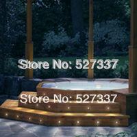 Free Shipping! Stainless Steel Waterproof LED Plinth Light Kit Outdoor Plinth Lighting Set: 60pcs 0.3W Light&2pcs Power Supply