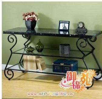 Tieyi underwear rack wrought iron tea table tv cabinet fashion wrought iron table(China (Mainland))