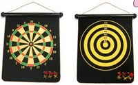 Free Shipping Children Safety Magnetic Roll Up Hangable Two Side Magnet Darts Board Toy