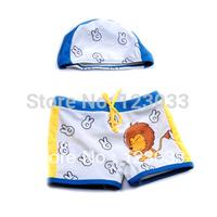 Single new boys swim trunks girl cartoon lion outside swimming sweater children swimming trunks baby swimming trunks