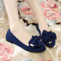 2013 spring and autumn bow flat heel pointed toe single shoes boat shoes fashion casual female shoes