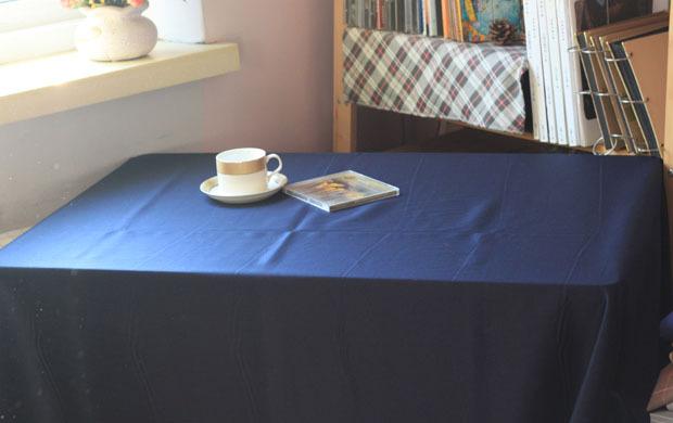 Satin solid color dark blue table cloth tablecloth gremial table cloth dining table cloth(China (Mainland))