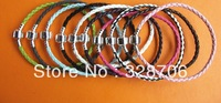 DIY handmade jewelry European and American fashion leather cord 3mm silver buckle chain bracelet 10 colors 16cm-23cm  200pcs