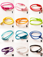 free shipping ,2013 new fashion Hot-selling HARAJUKU neon color personality zipper hand ring bracelet