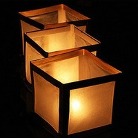 10pcs/lot High Quality Square Water Lanterns & Wishing Water Lantern & Floating River Lanterns For Promotion Free Shipping