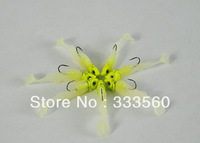 Free Shipping! Fishing bait hook soft fish bag lead fish lure luminous fishing tackle belt Wholesale soft bait spoon 100pcs