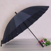 Factory Price Wholesale Super Strong Long handle Straight Umbrella 24K Windproof Golf Umbrella