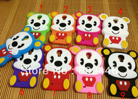 Best gift!cute lovely  3D Cute Cartoon Mouse Soft Silicone Case Cove For samsung s4 i9500 SIV,10pcs/lot Free shipping