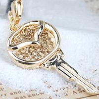 Aixia MAZDA mazda quality diamond decoration mobile phone chain pendant accessories car the mark emblem