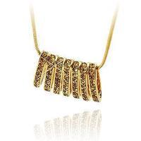 New arrival luxury double pendant shining exquisite colnmnaris necklace