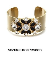 Limited ! vintage gem inlaying street wide female bracelets