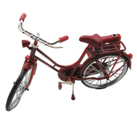 Gift bicycle model vintage lighter inflatable toy car red women's