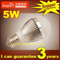 Free shipping Hottest BOPO 5W E27 B22 85~265V Ultra bright LED bulb aluminum 110V 220V LED lamp high low power led light